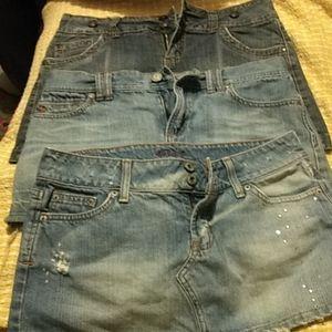 Jean skirt bundle
